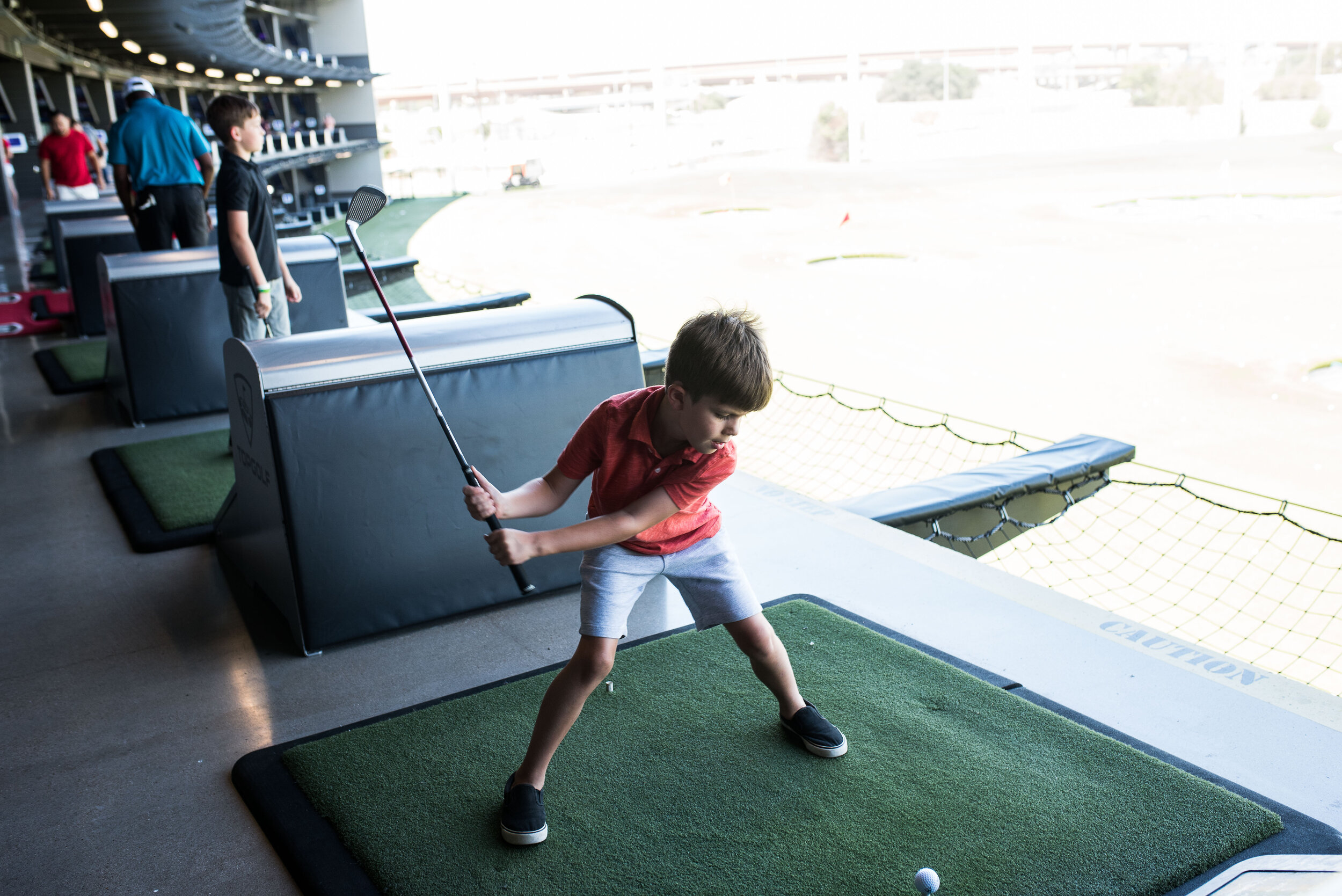 Aside from being a little embarrassed by how his little brother swings a club, Michael had a great time.