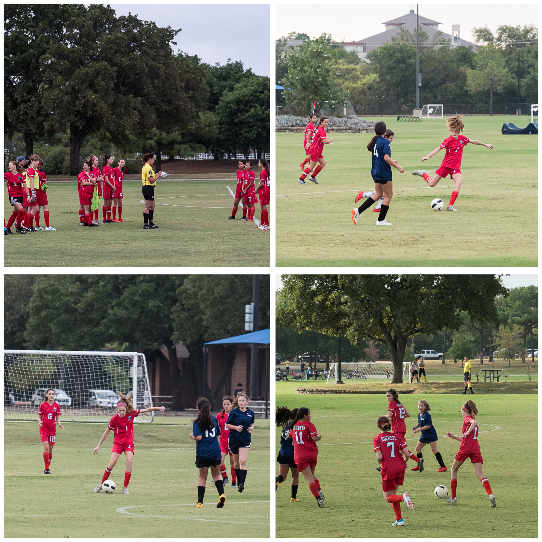 The U14 Rockets are back at it for the fall season, playing other U14 teams as well as U15 and U16. The beginning of the season was rough but they are really hitting their stride the last couple of games. Love to watch them play!
