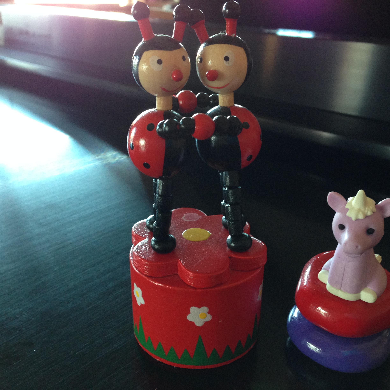 Ladybug Push Puppet