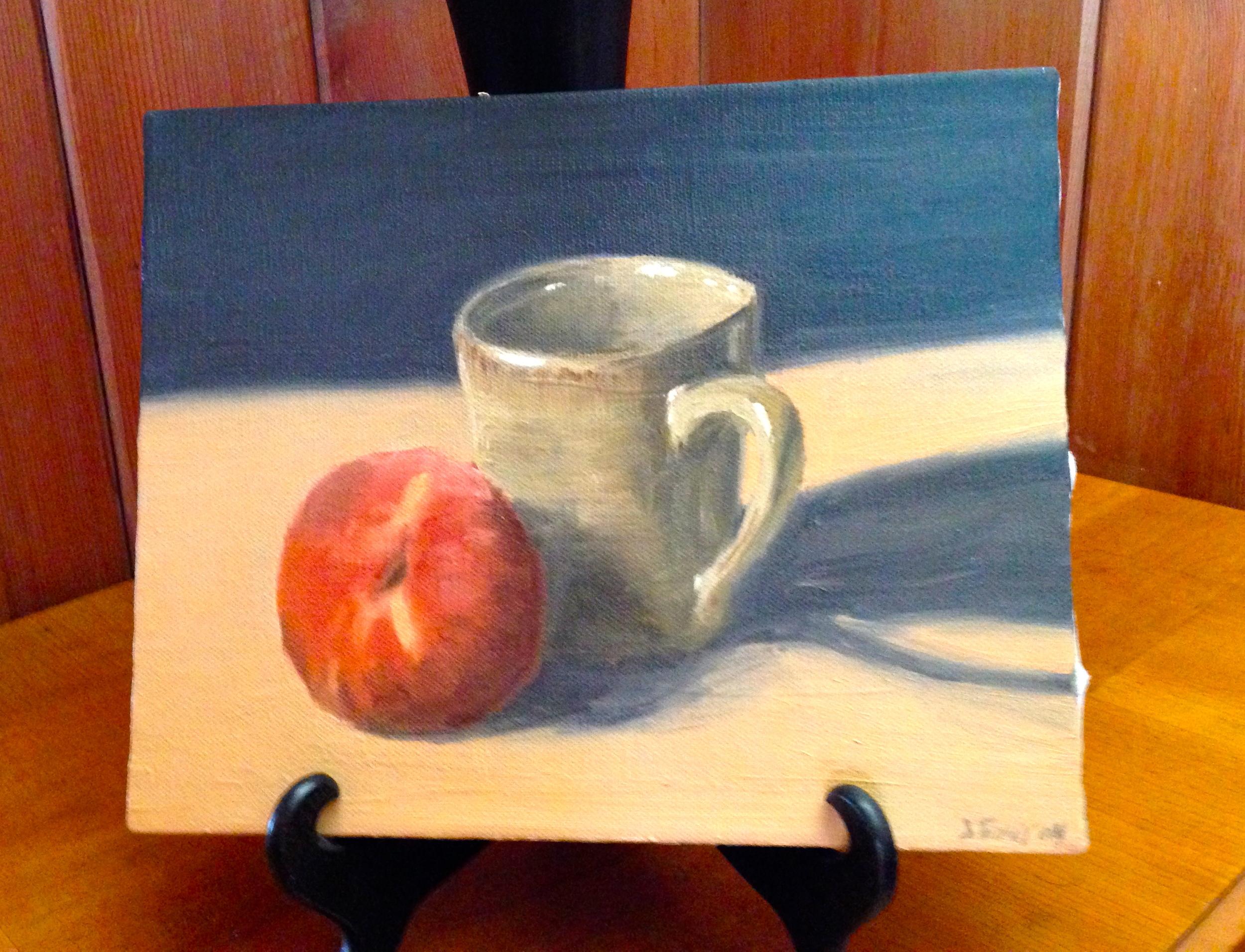 Still life painted by my husband, J. Tony Smith