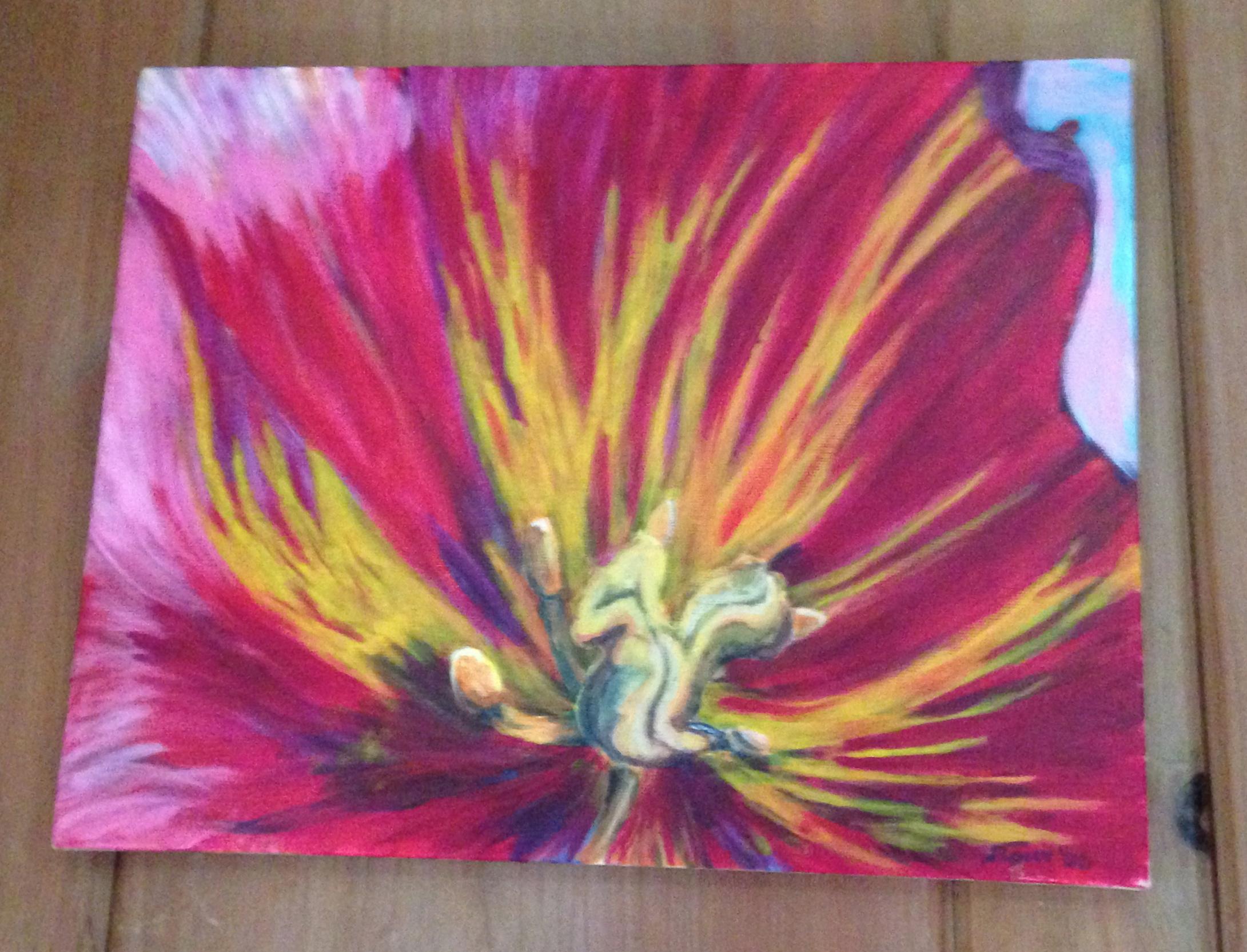 Poppy painted by my husband, J. Tony Smith