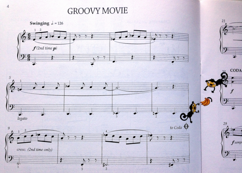 Excerpt of Groovy Movie  from Elissa Milne's  Little Peppers book.