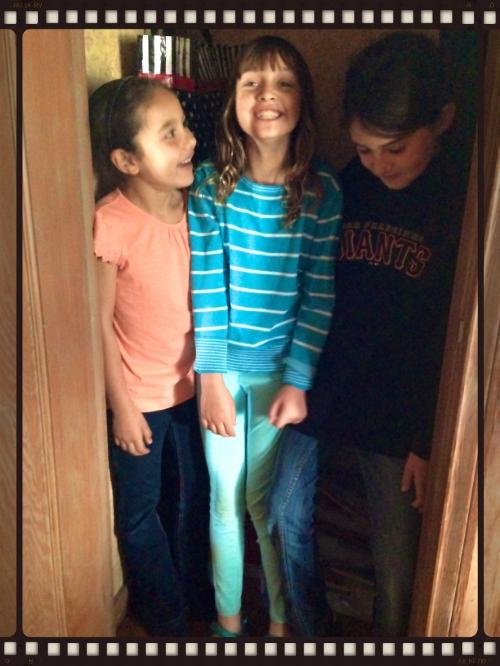 Kids in the closet.