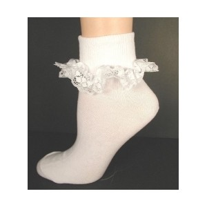 Lace anklets like this drove me crazy as a child.