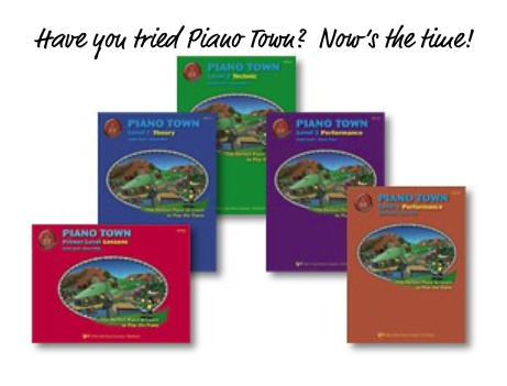 Piano Town can be ordered from your local dealer as well as from  Amazon ,  Sheet Music Plus , and  Book Depository .