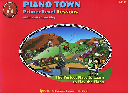 The cover features a girl and boy ready to explore the town together.