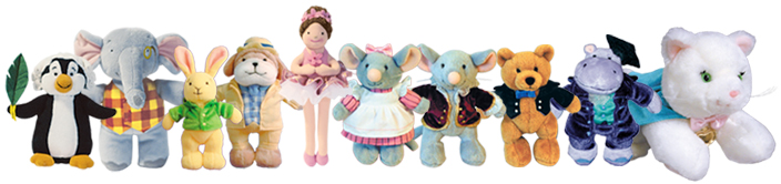The entire Music for Little Mozarts stuffed animal series.