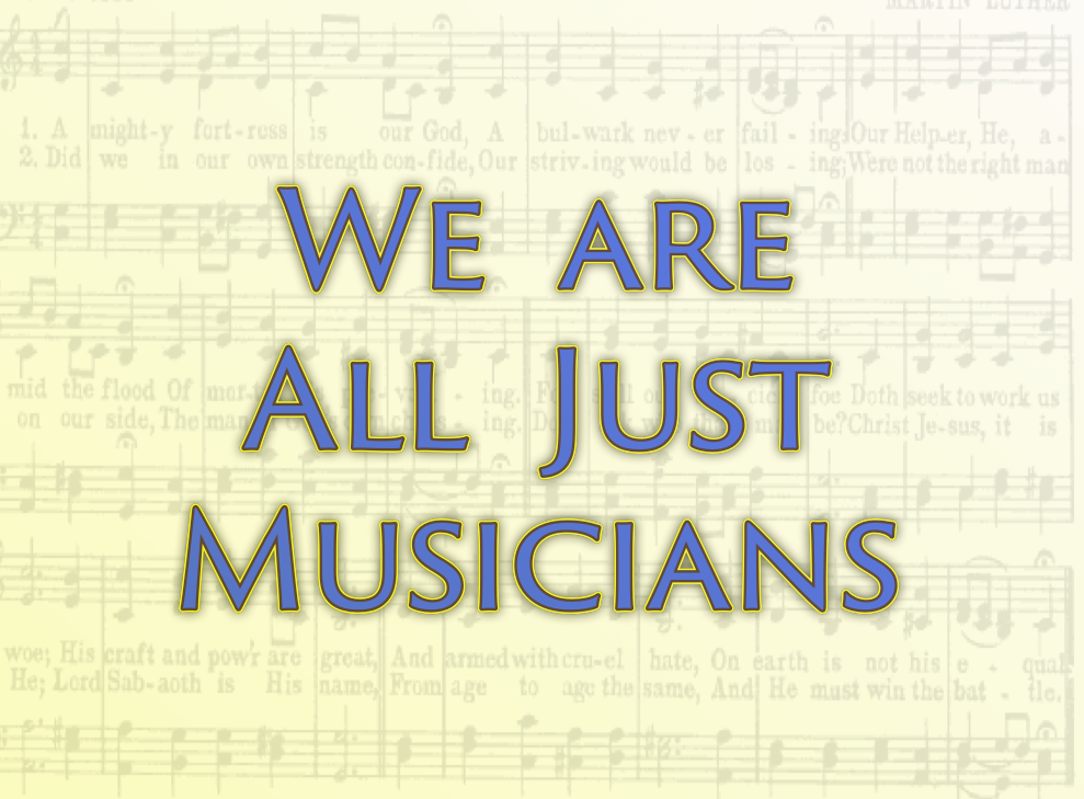 We are all just musicians