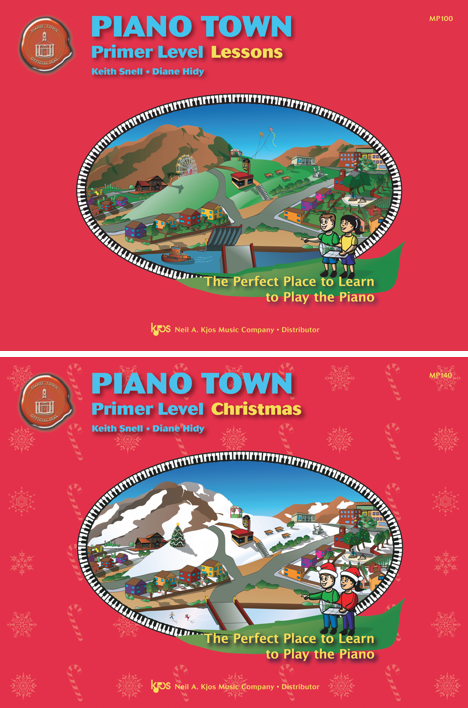 Students enjoy comparing the two covers - the holiday books have the Piano Town world transformed and they notice every detail. How many differences can you spot?