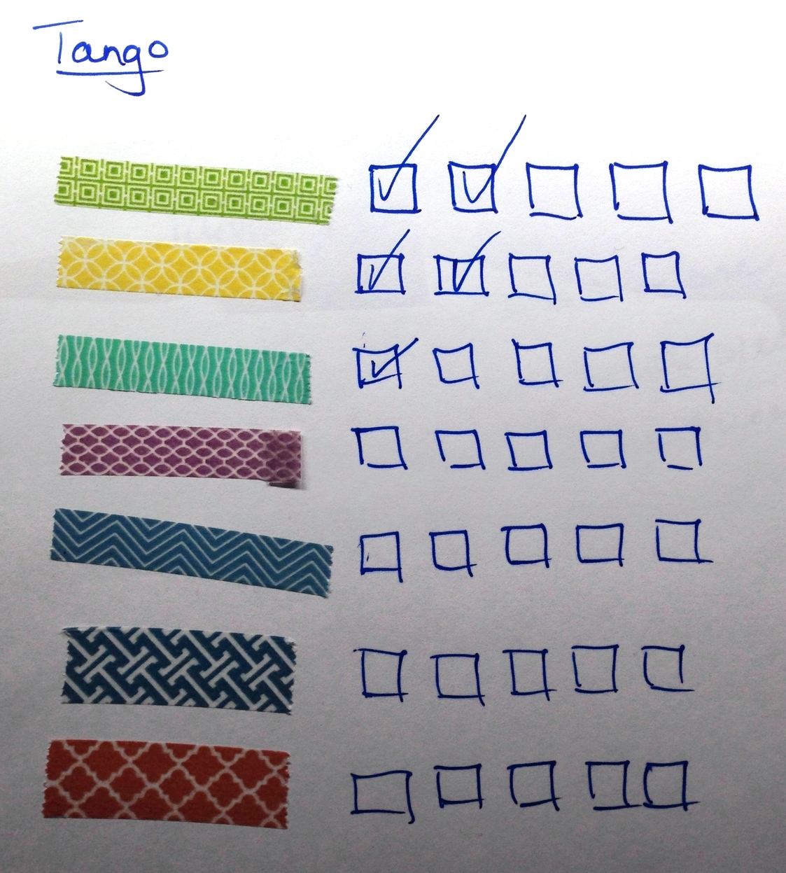 """Washi Tape  helps makes a great practice check-off list. It's much more interesting to practice the """"Green"""" section than measures 4 - 8!"""