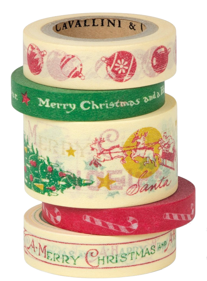 I want this  Cavallini Christmas Tape.