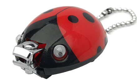 Keep the ladybug theme alive with  Ladybug fingernail clippers . I'm going keep a few of these in my waiting area to remind kids to clip  before their lesson.