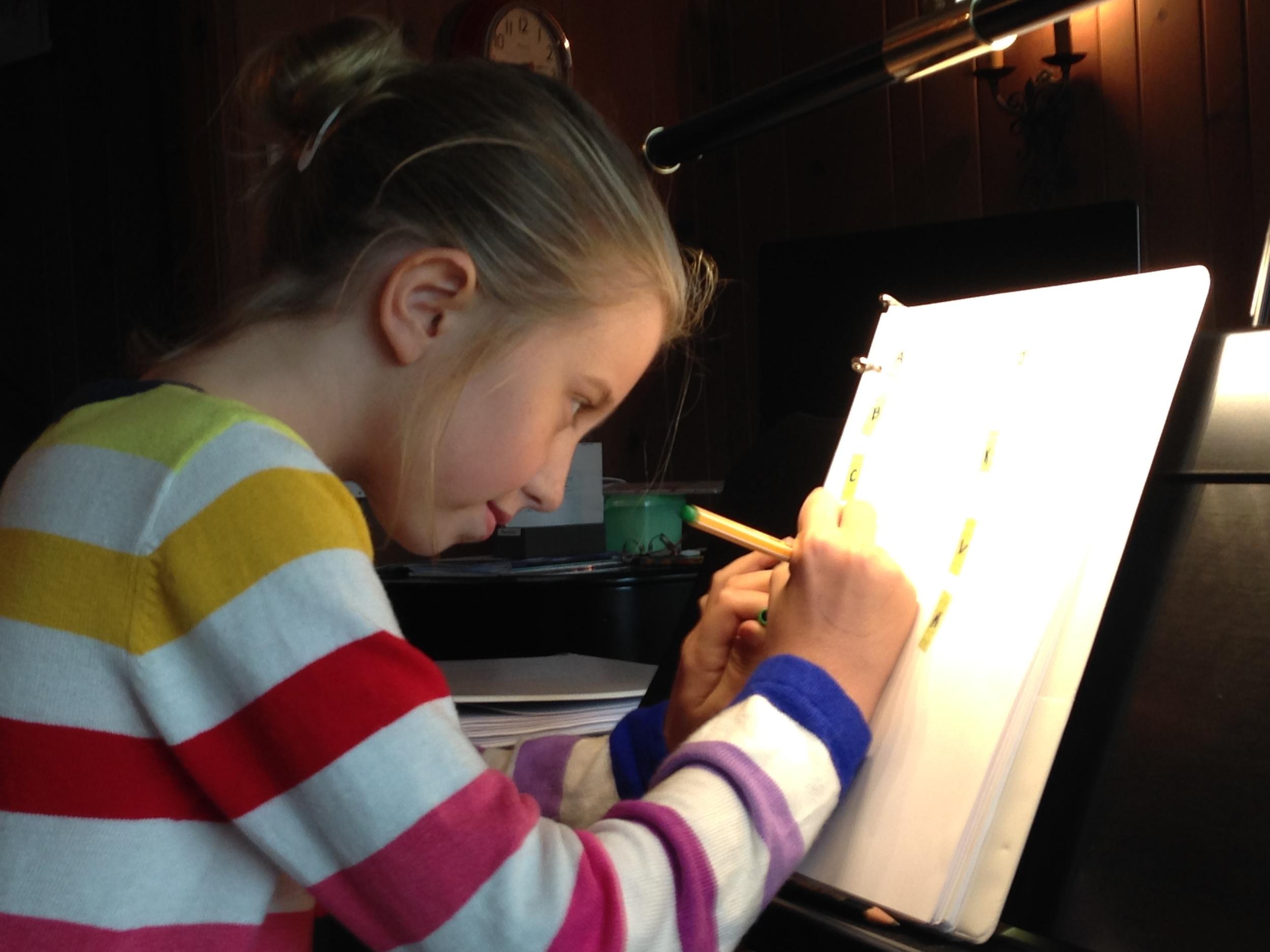 Iliana writing