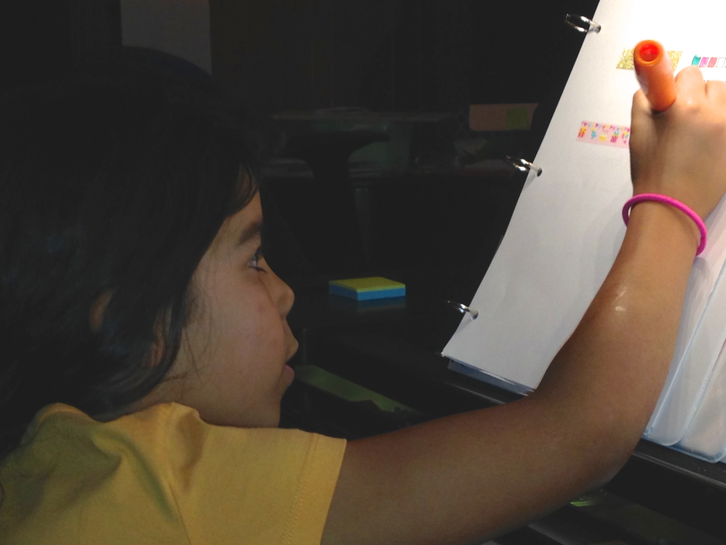 Ella making her first practice plan
