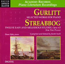 Gurlitt and streabog cd recorded by diane hidy.