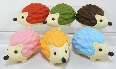 Hedgehog Puzzle Erasers