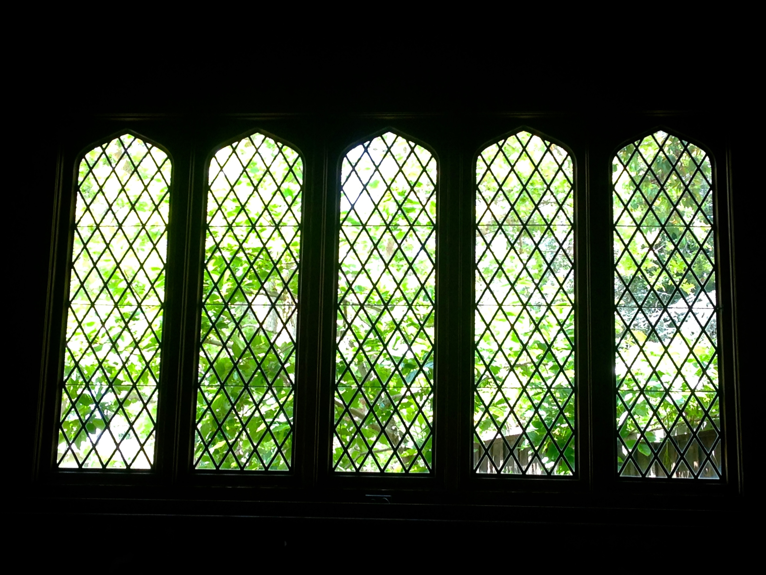 West Window of the Maybeck Recital Hall.