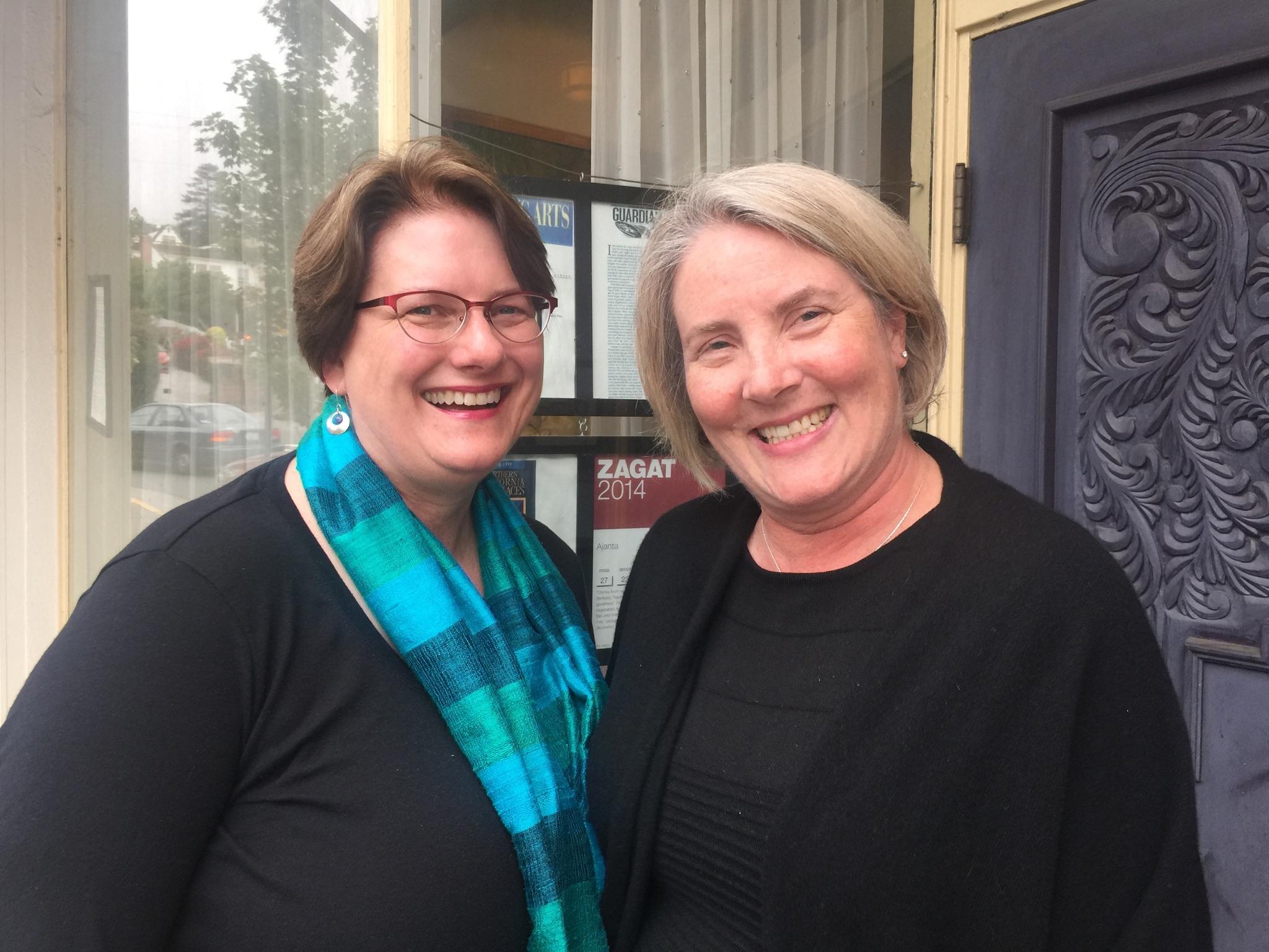 With my dear friend and wonderful colleague, Kara Schleunes.