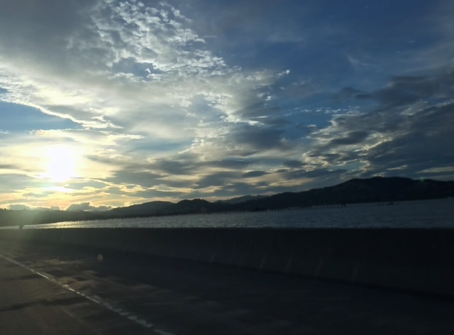 Even the clouds on the drive home to San Francisco from Berkeley were stunning.