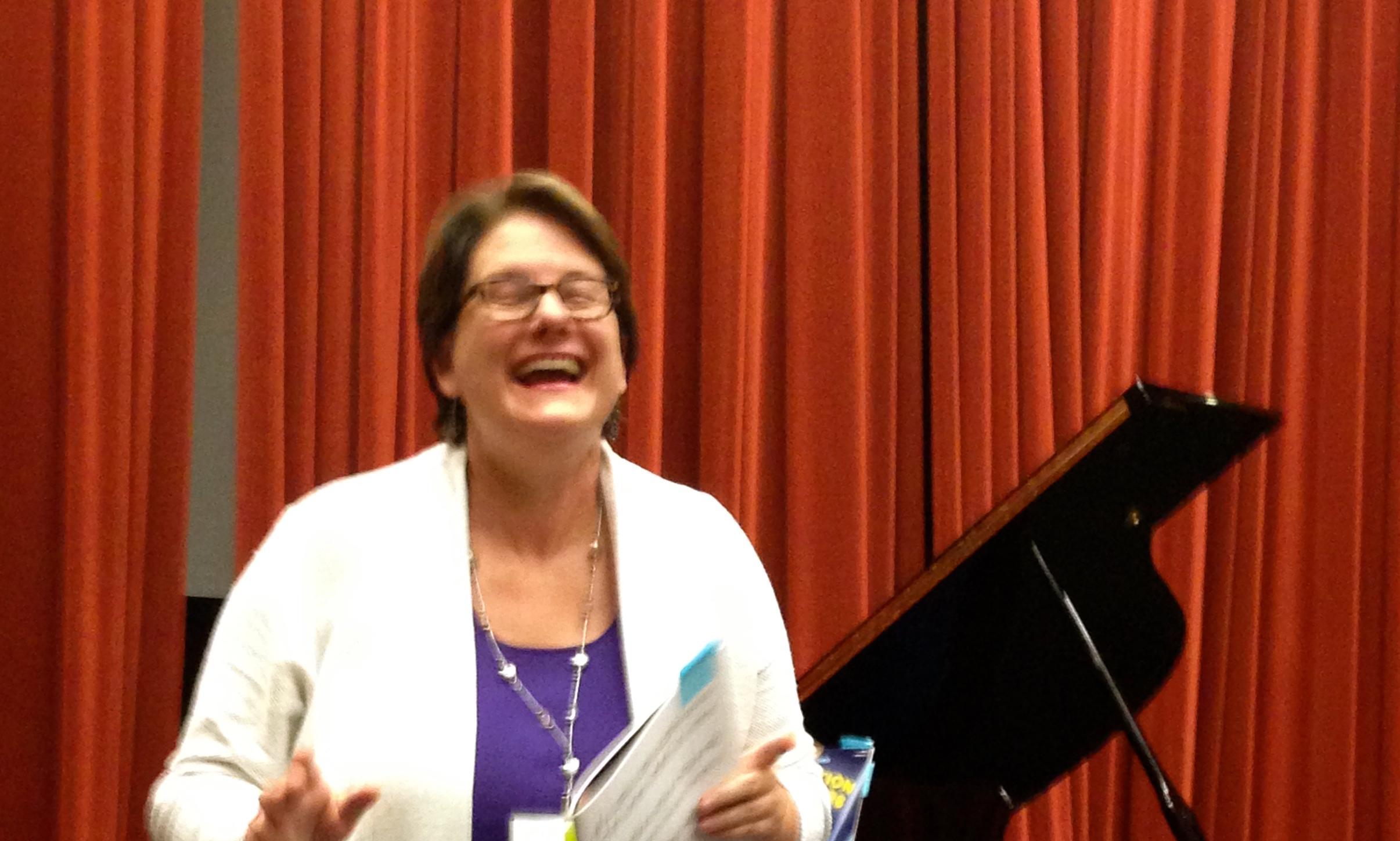 Diane laughing