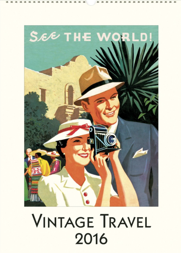 I adore vintage travel posters and this  calendar from Cavallini  has some of the most beautiful ones I've ever seen.