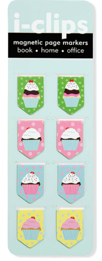 Sometime it's nice to have attractive paper clips.These  Cupcake Magnetic Page Markers make a nice alternative.