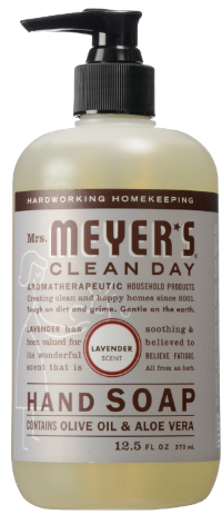 Lavender Mrs. Meyer's soap smells great and I can always take a sniff of my student's hands to make sure they've really washed them! (I buy it  in bulk  now.) I like all the scents it comes in - even the ones with goofy names like  Basel  and  Parsley .