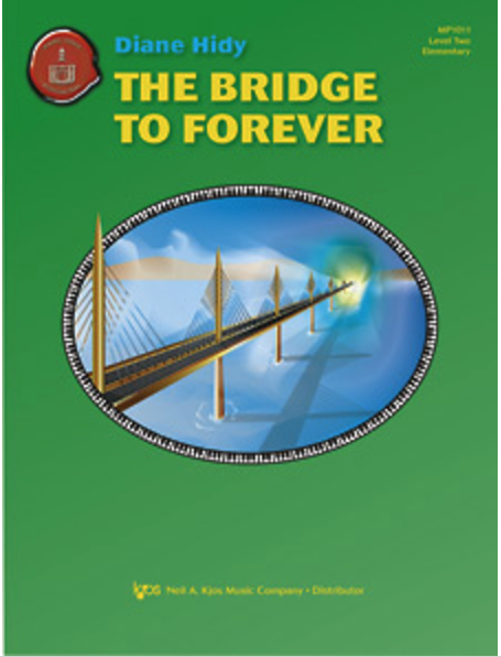 The Bridge to Forever  is a serious, grand-sounding piece. The largest interval is a 7th and it uses lots of simple pedaling for a sonorous, impressive sound. Late Elementary.