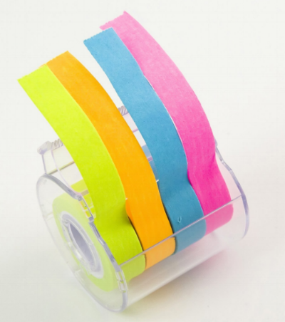 I love this  Four-color post-it Tape dispenser . The tapes last quite a while, and students love them.  If you're not lucky enough to live in a big city with Japanese stationery stores, you can use this link to get yours.