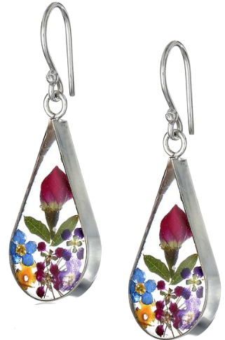 I think these  Flower Earrings  are sweet. I tend to wear too many solid colors, so multi-colored earrings work well for me.