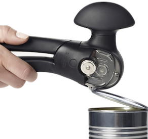 If you don't have a smooth-edge can opener, you need one. They literally pry open the lid so there's no sharp edge. Mine is worn out after about ten years, so I'd like this new  OXO Good Grips Can Opener . Safety first, everyone!