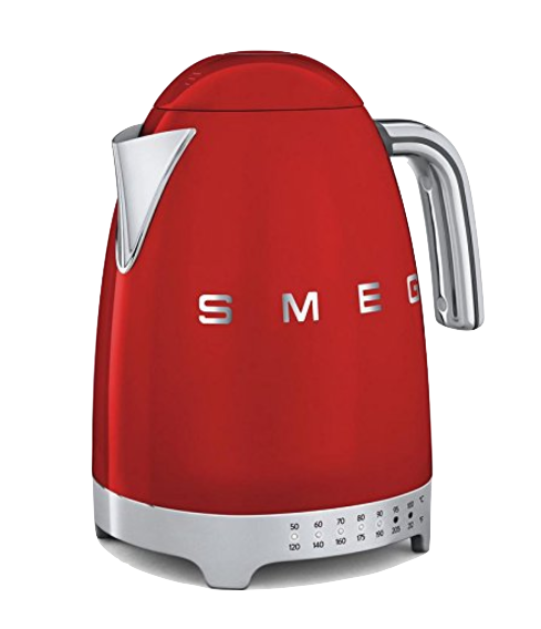 The  SMEG Kettle  is the electric kettle of my dreams. It's retro and sexy and comes in every color I would want, including this red one.  The one that I actually own  is much humbler, less expensive and also completely functional.