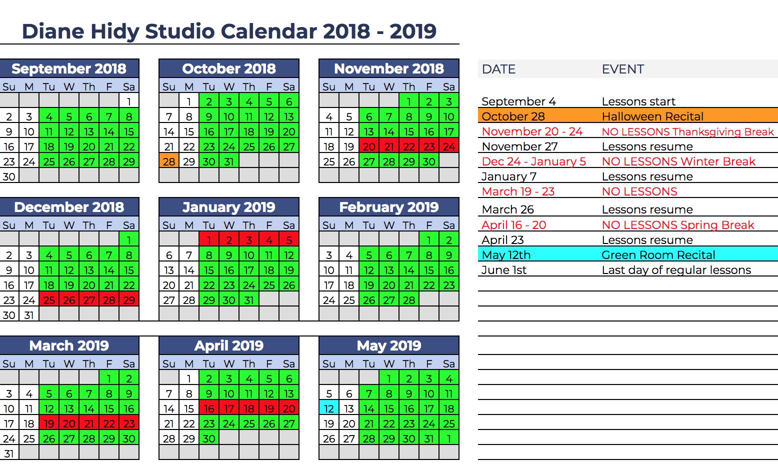 Diane Hidy Studio Calendar 2018-2019 Google version.png