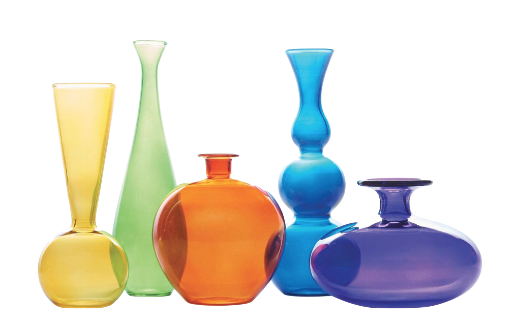 Love these  Jewel Tone vases . I love having little vases full of flowers all around my home and studio.