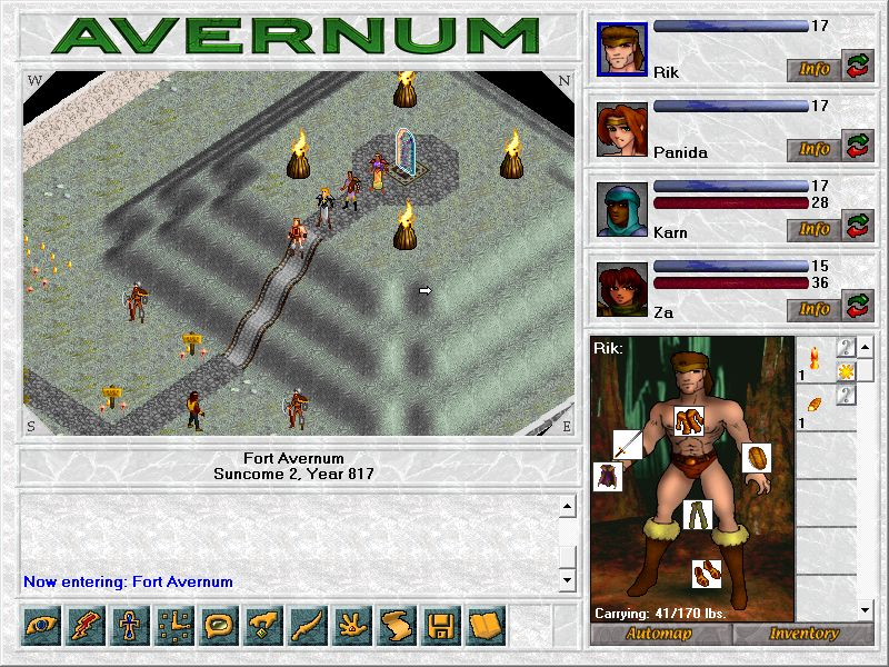The entrance portal in Avernum. Not as nice as the remake.