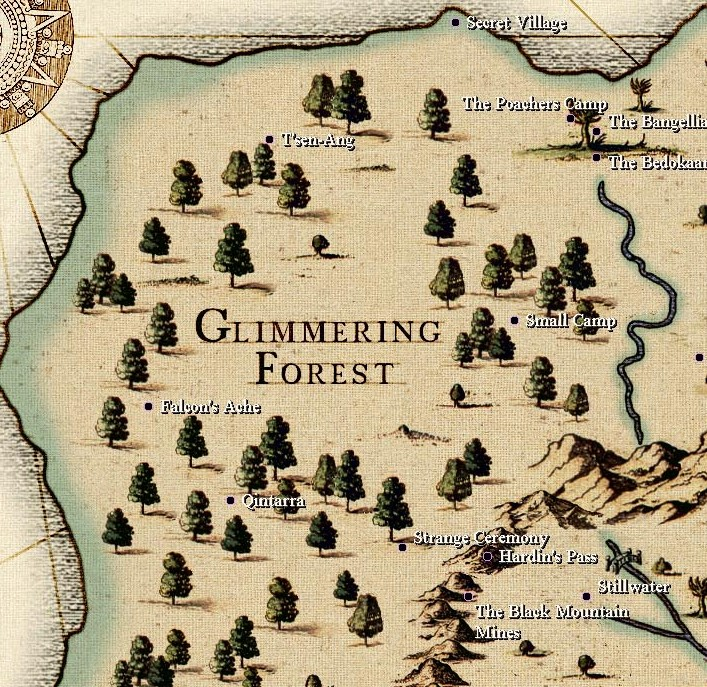 Aye, the Glimmering Forest and The Iron Mountains, argh, aye.