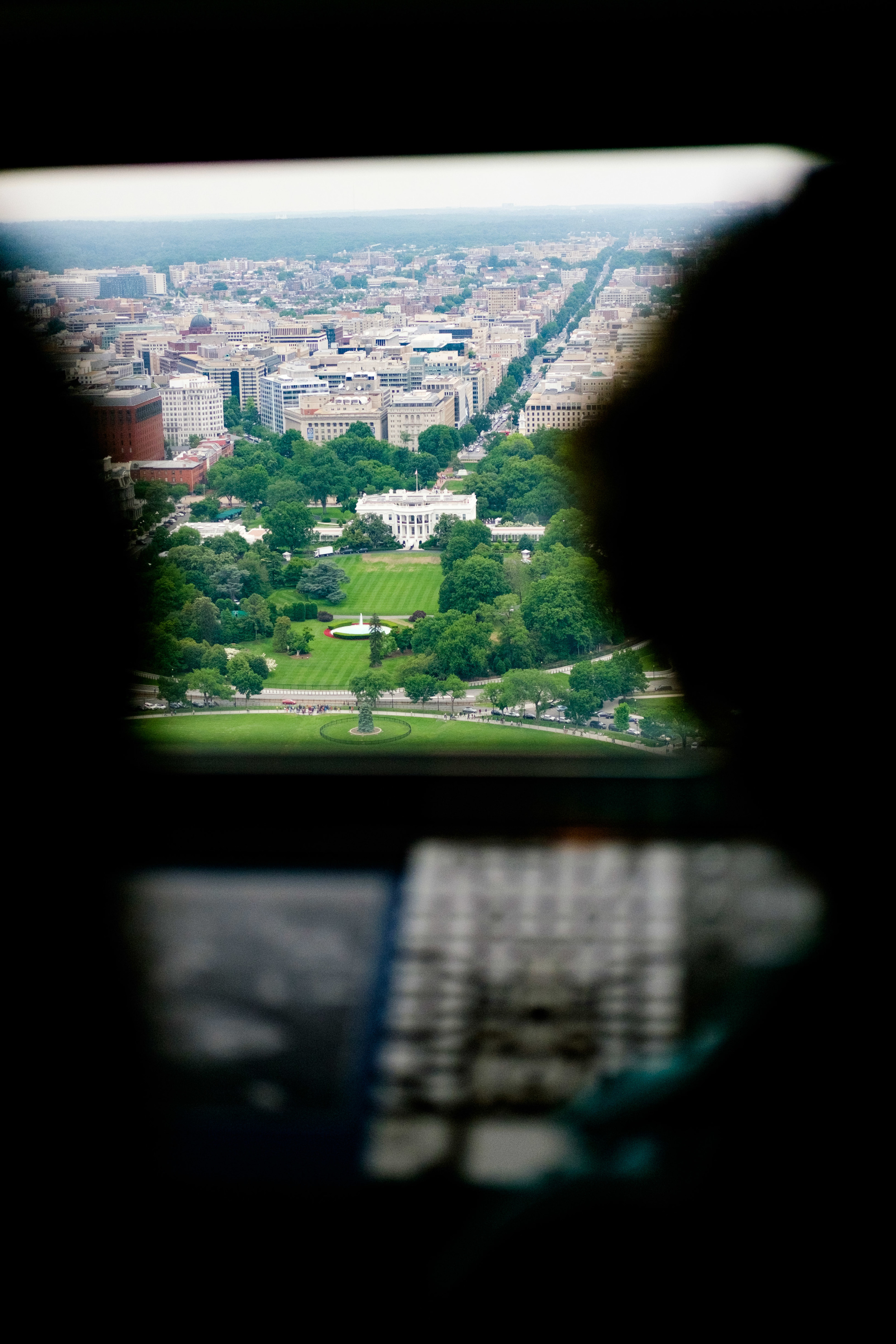 The Whitehouse, photographed from the top of the Washington Monument