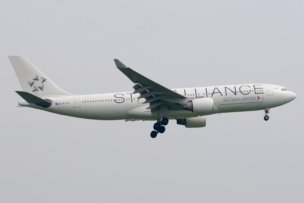 OE-LAO  Austrian Airlines A330 Star Alliance