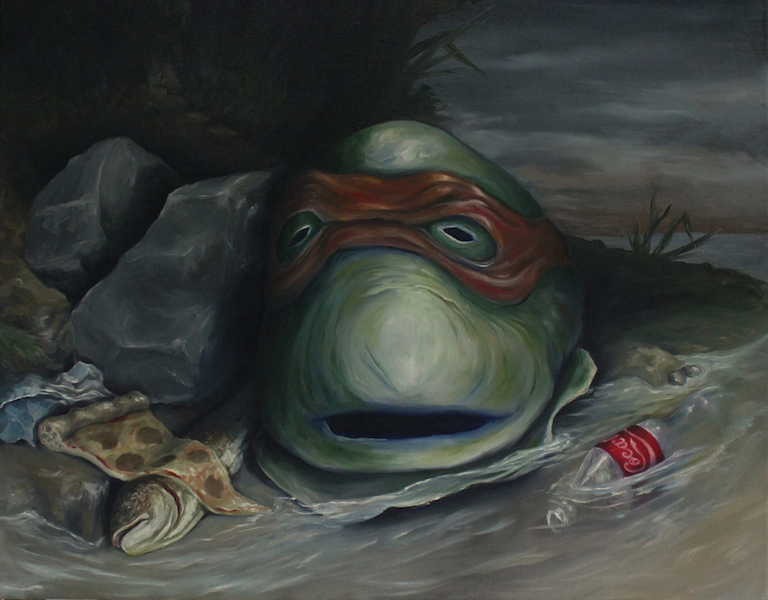 Still Life with Ninja Turtle Mask