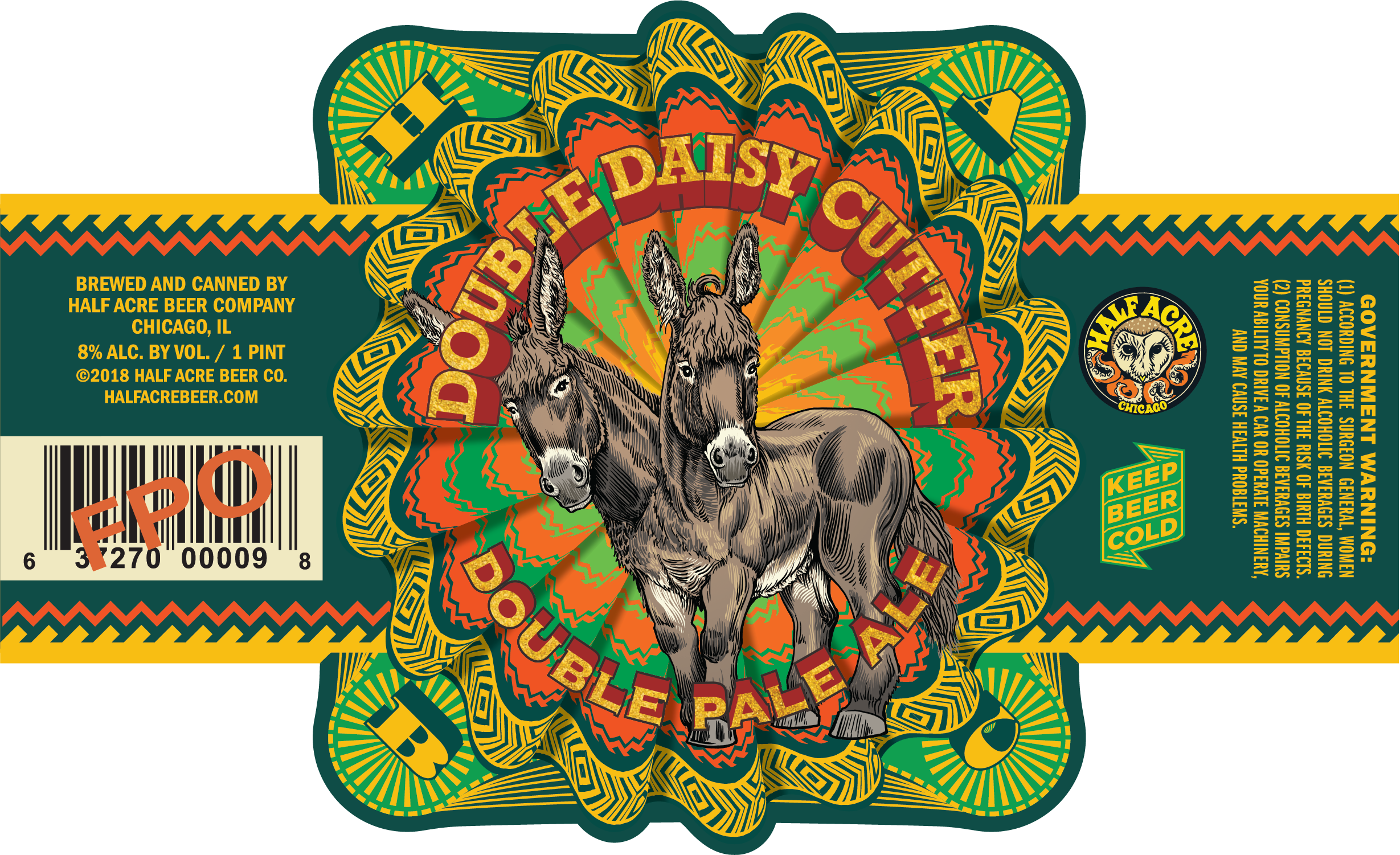 Double Daisy Cutter 2017 Can Label