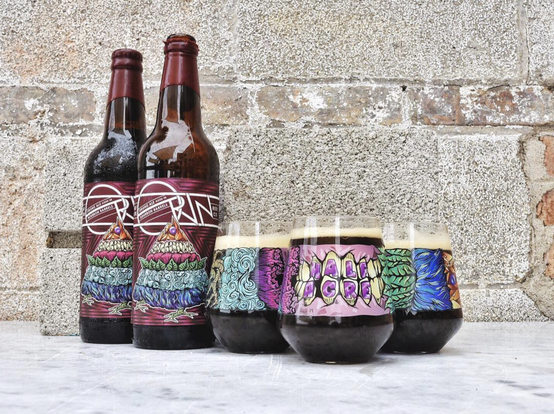Orin Bombers and Matching Glassware