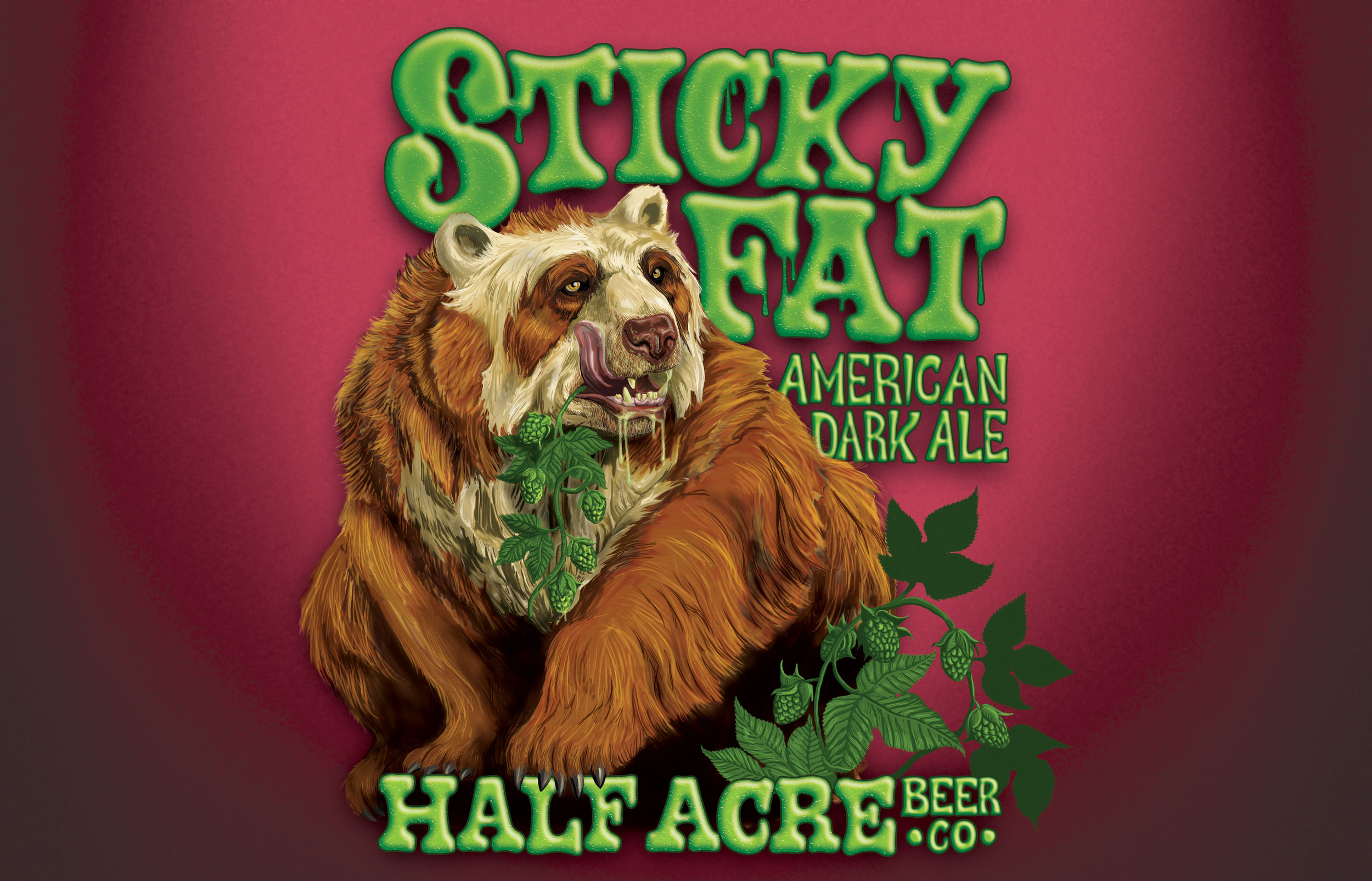 Sticky Fat 2012 Bomber Label