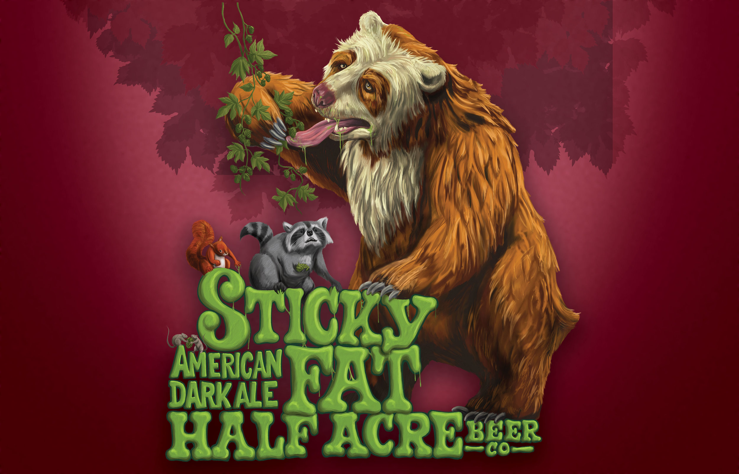 Sticky Fat 2013 Bomber Label