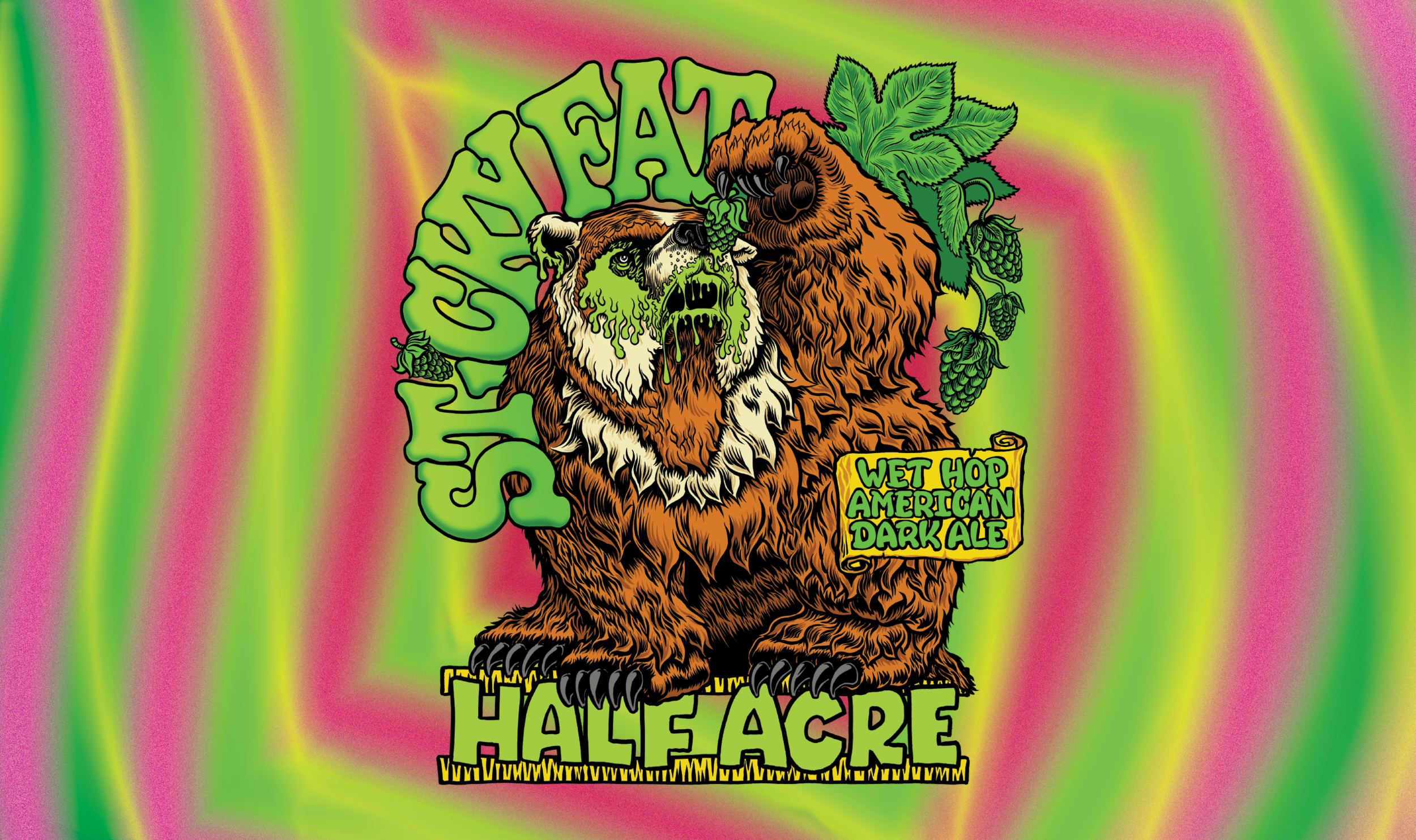 Sticky Fat 2018 Bomber Label