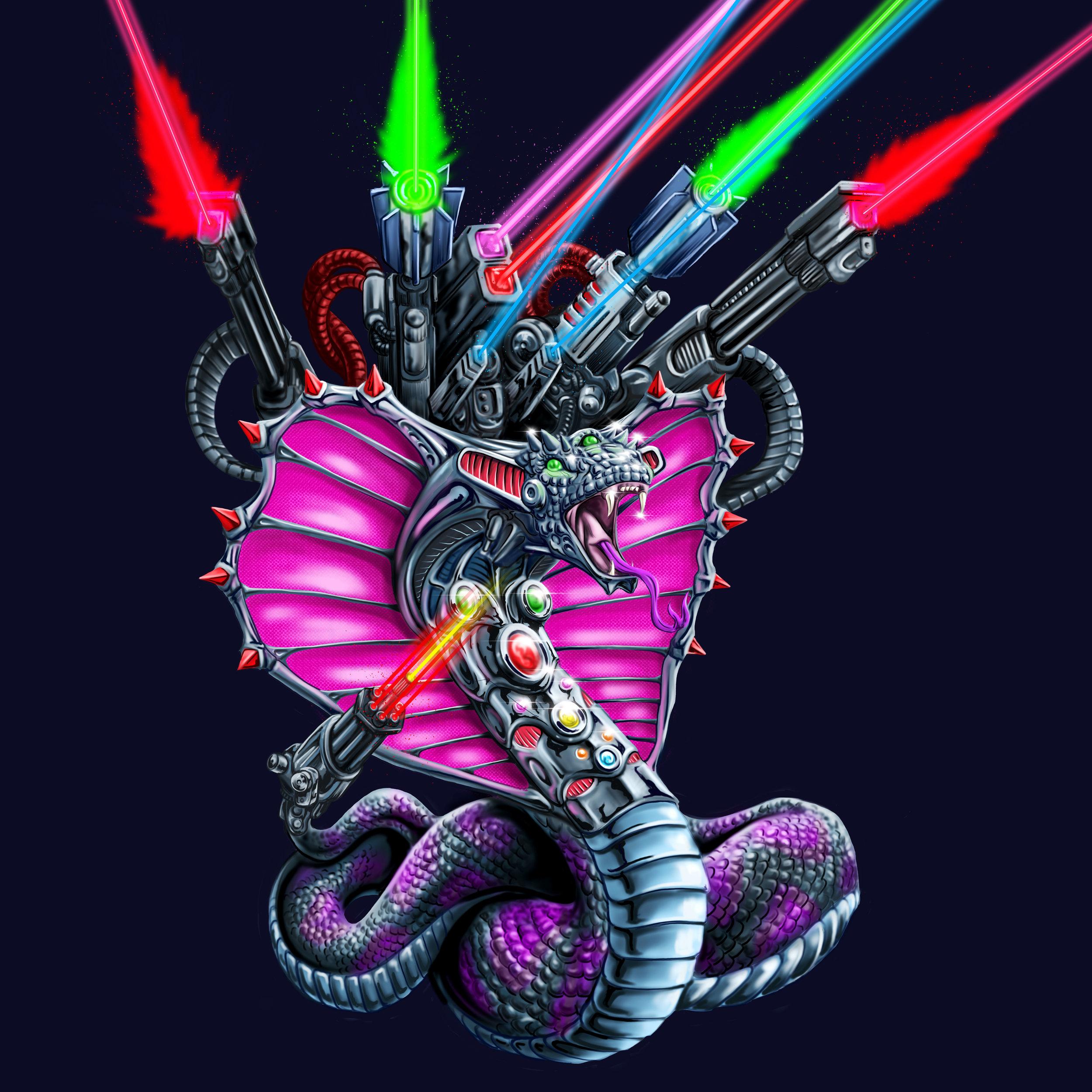 Lazer Snake Illustration