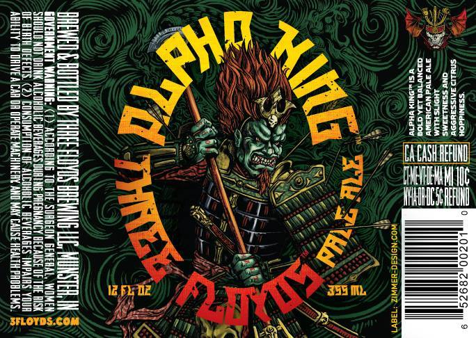 Alpha King 12oz Label - Design by Jim Zimmer