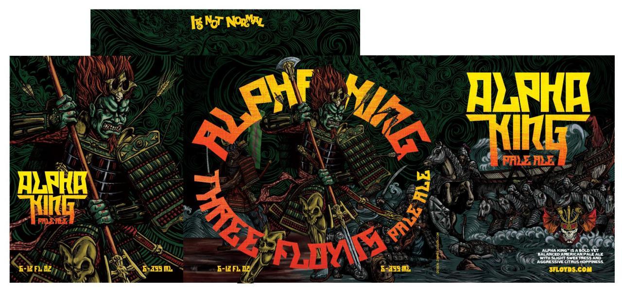Alpha King 6 Pack Carton - Design by Jim Zimmer