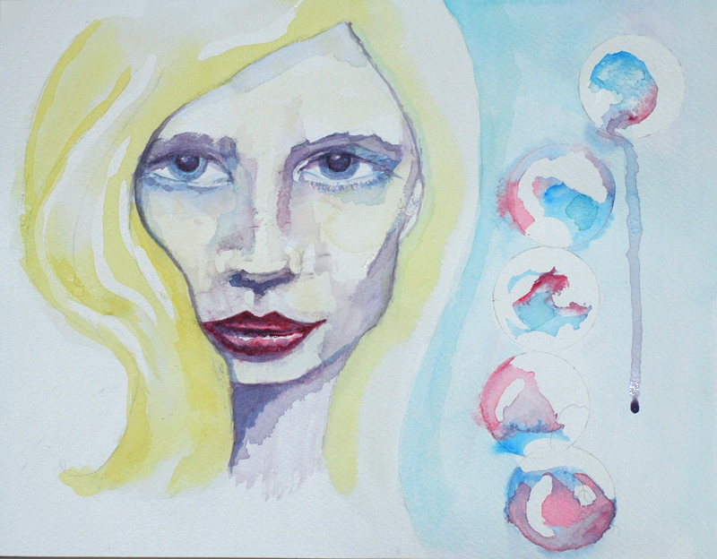 watercolour face copyright donnalouiserodgers
