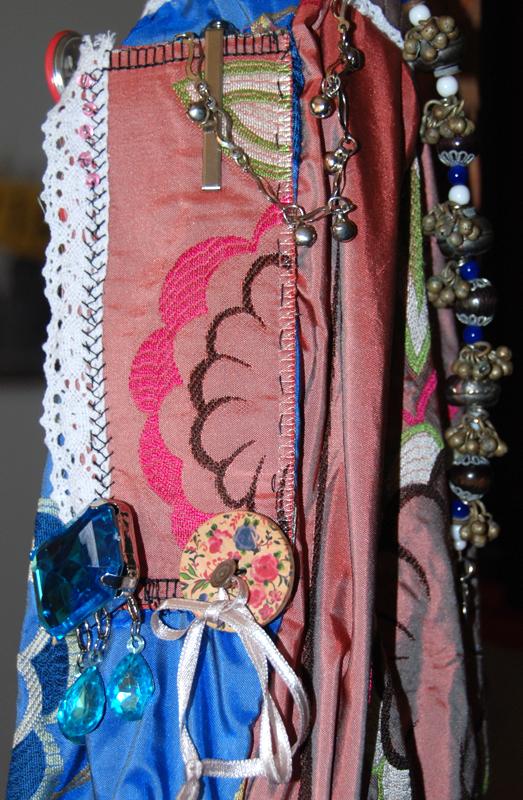 bag side panel pocket and embellishments