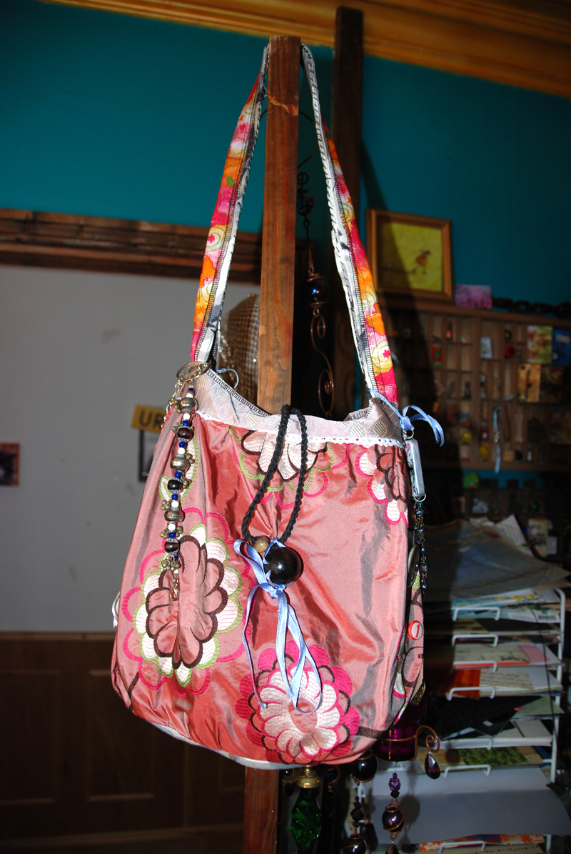 the bag hanging on the door - or as He refers to them 'banging hags'
